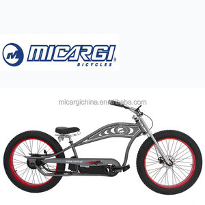 Micargi 26'' ChopperCruiser E-Bike CYCLONE 250W/350W/500W Fat Tire Electric Bicycle