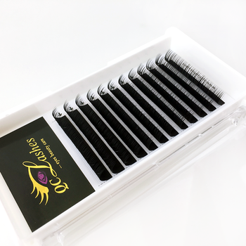 Private Labeling Soft Silk Camellia Lashes Handmade Eyelash Extensions