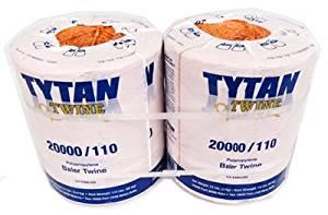 Tytan International PBT20110TONBP Baler Twine, Orange Poly, Two 10,000-Ft. Spools - Quantity 1