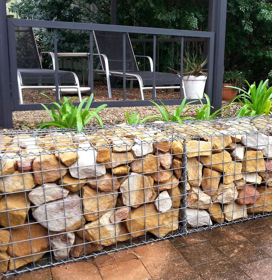 Galvanized Square Welded Gabion Cages Gabion Retaining