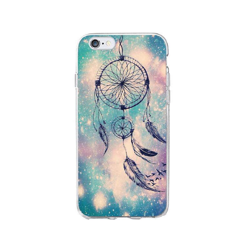 For Iphone 7 7Plus 6 6S XS Max 8 8Plus X 5 5S Dream Catcher Boho Tribal Soft TPU Phone Case Cover Coque Fundas
