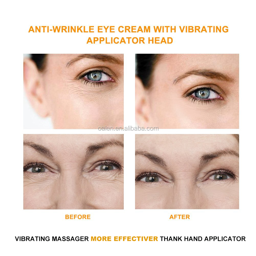 Private Label Eye Care Anti Wrinkle Agelss Dark Circles Remover Mini Electric Vibration Massager Eye Lift Cream