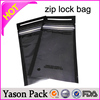 Yason noni aluminum foil plastic bags with zipper stand up pouch zip lock black aluminum foil zipper bags with white mark