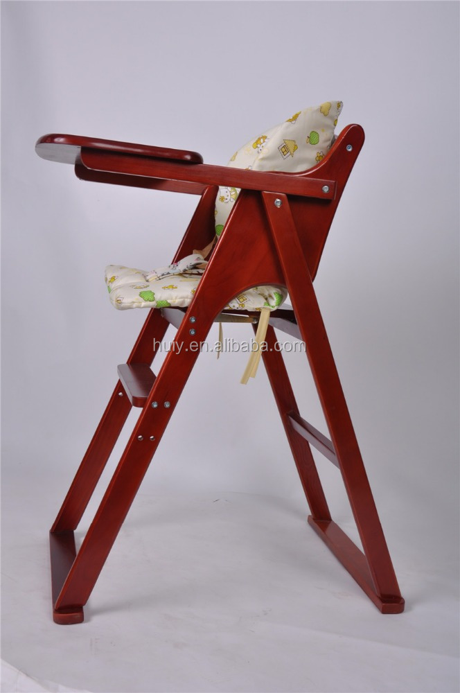 Cherry color wood baby high chair Baby chair/Baby table chair