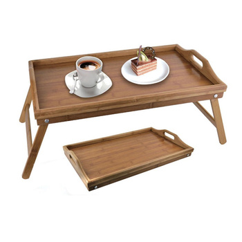 Naturally Bamboo Folding Bed Serving Tray With Legs My3 1170