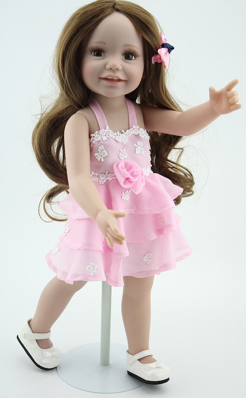 Großhandel Mode Puppe 18inch Hübschen Mädchen Puppen American Girl