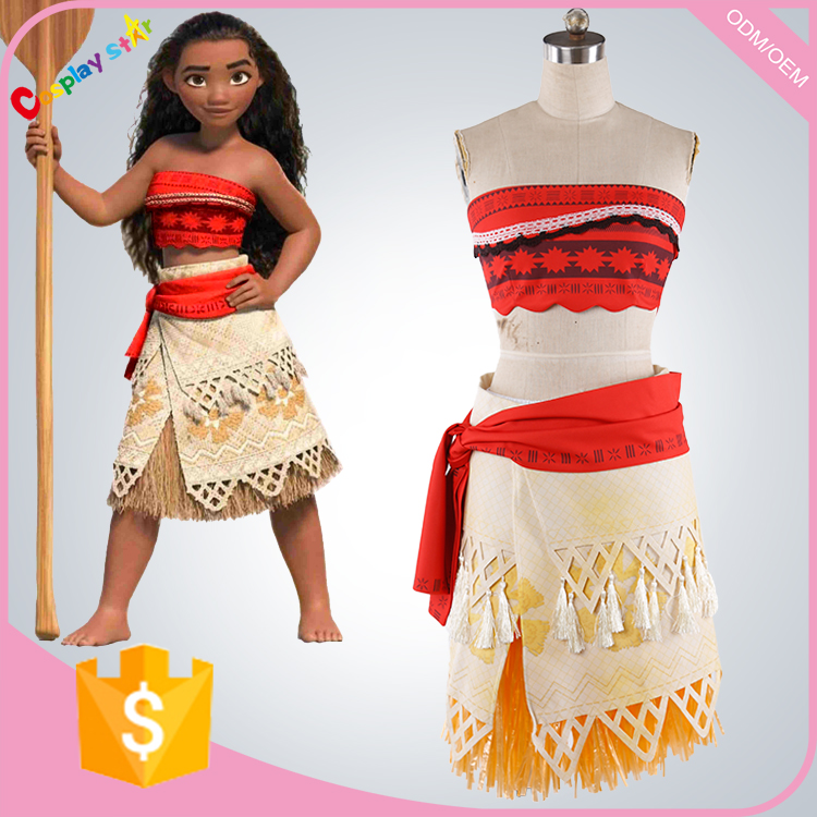 Waialiki women sexy princess Moana carnival costumes for kids custom made