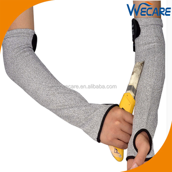 Thumb Slot Level 5 Protection Polyethylene Cut Resistant Protective Knit  Arm Sleeves - Buy Cut Resistant Sleeves,Arm Sleeves,Protective Arm Sleeves