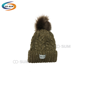 COSUM brand wholesale pure color cotton set winter hat