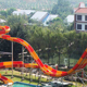 Factory price outdoor fiberglass water slide for kids and adults