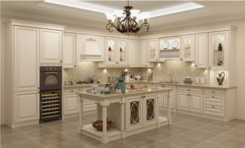 French White Matt Finish Kitchen Cabinet Solid Wood