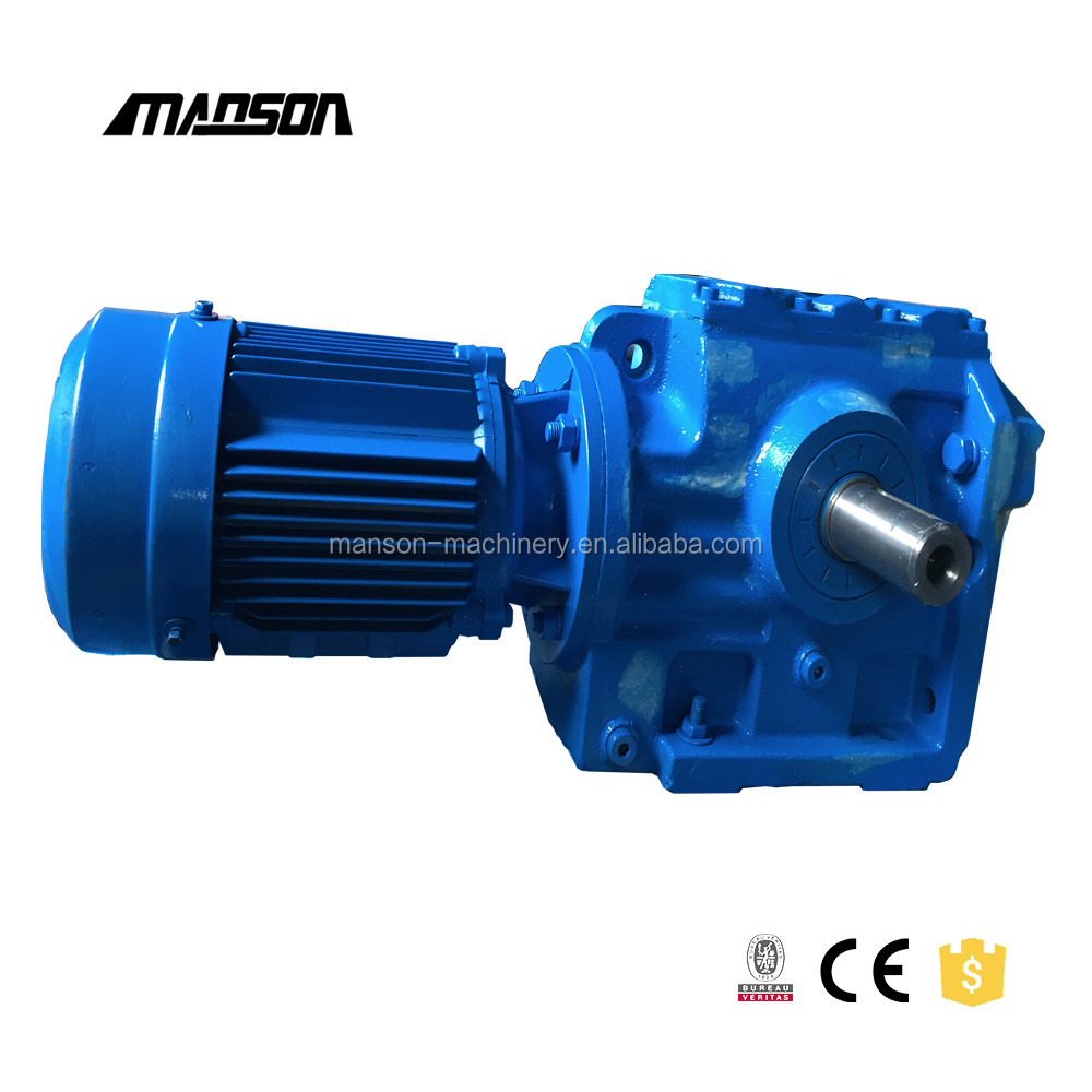 Right Angle Gearbox Helical Worm Gear Reducer General S Series Gearmotor