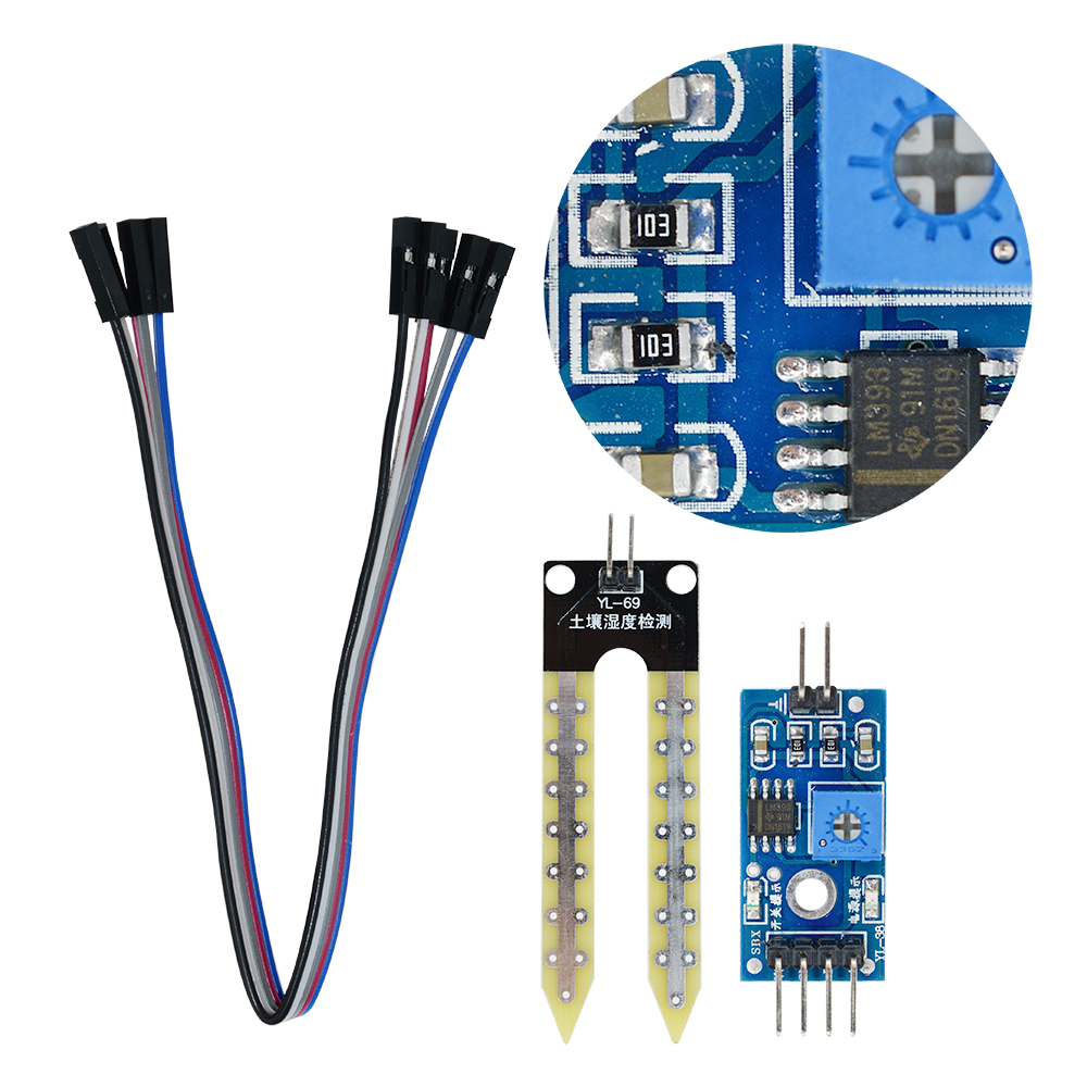 Soil Hygrometer Humidity Detection Module Soil Moisture Soil Water Detecting Sensor With SATA Cable