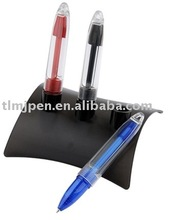 Promotion advanced set of red and black blue plastic ball-point pen business