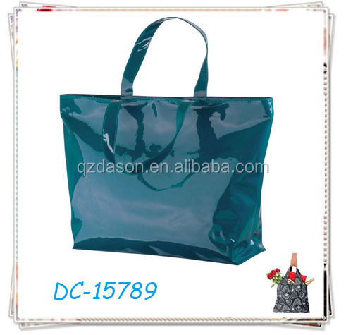 Custom Shinny Vinyl PVC Shopping Bag