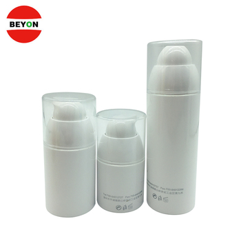30ml 50ml 100ml plastic white cosmetic luxury spray airless bottle