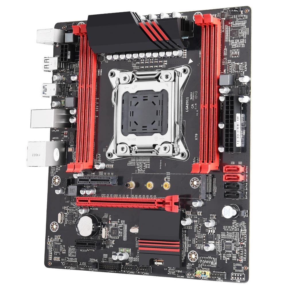 Motherboard NVME M2 ATX 64GB Memory LGA2011 Mainboard DDR3 DIMMs ECC /& Non-ECC