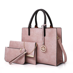Europe And United States Style Fashion 2019 Hot Selling 3 Pieces Lady Set Bag Women Handbag With Shoulder Bag+Handbag+Clutch