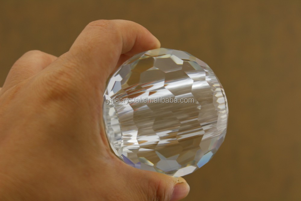 Factory Direct Supply Clear Faceted Hollow Crystal Balls /Facted crystal glass ball with hole /glass Drilled crystal ball