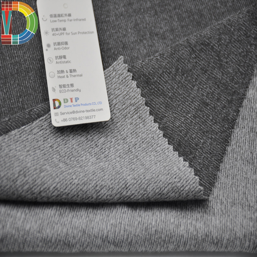 Knitted Technics and Weft Knitted Type viscose polyester knitted fabric