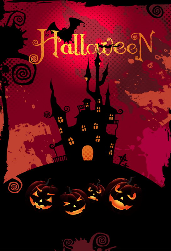 Fashion Halloween Photography Props Backdrop Castle