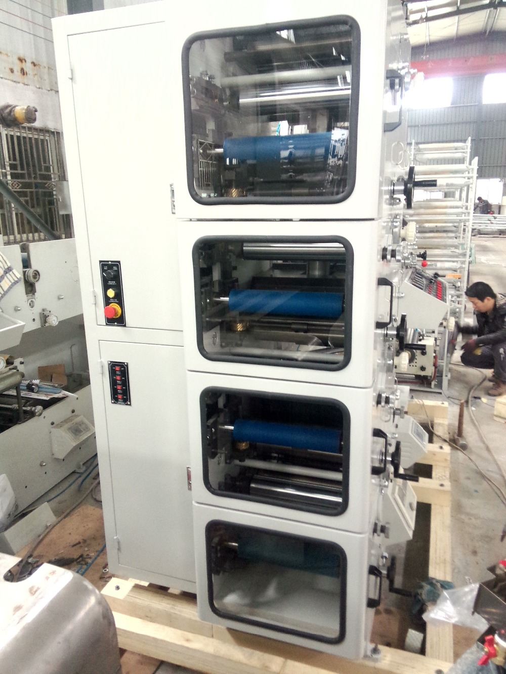 HSS-320 4 colour flexo printing machine for adhesive label