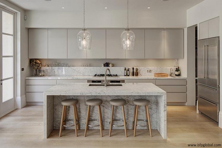 Licht Grau Küche Handless Stil Für Moderne Bau Quarz Arbeitsplatte - Buy  Grau Farbe Küche Schrank,Küche Handless Moderne Stil,Caracatta  Arbeitsplatte ...