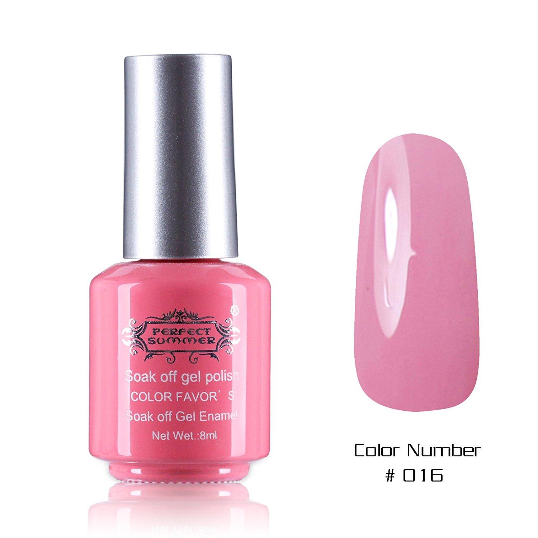 Perfect Summer New Best 8ml Gel Nails Polish Salon Artistic Painting Arts Nails Lacquers Varnish UV Led Light Soak Off Creative Perfect Match Nail Decorations #16 cute pink