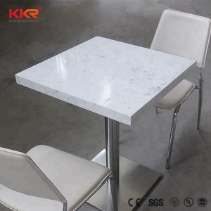 Hot sale square marble coffee table, white quartz table top