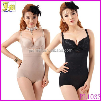 f38139933c0 High Quality Women Floral Bodysuits Shapewear Underwear Plus size Body  Shaper Waist Training Corsets Buckle In