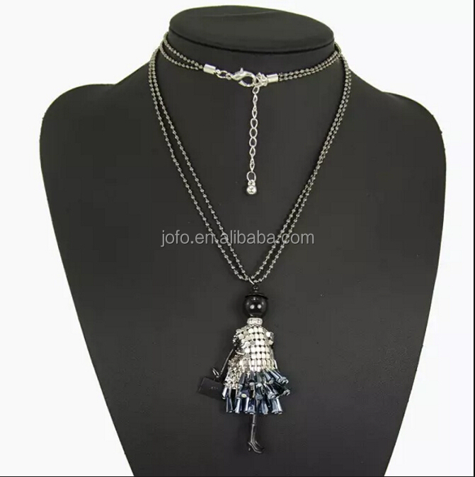 Luxury Designer Jewelry Doll Pendant Long Necklace Celebrity Love Holiday Gift