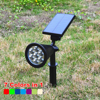 RGB / white / yellow IP65 mini led solar led garden lawn lamp spot light with insert