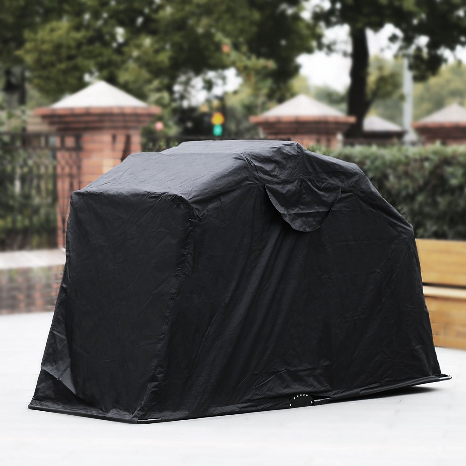 245 X 105 X 125 CM Motorbike cover Windproof Motorcycle Shelter with Lock-hole and Storage Bag for Indoor Outdoor Dust Rain UV Protection Lnkey Nylon 190T Waterproof Motocycle Cover
