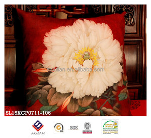 red China style floral printing decorative pillow sofa cushion cover sets