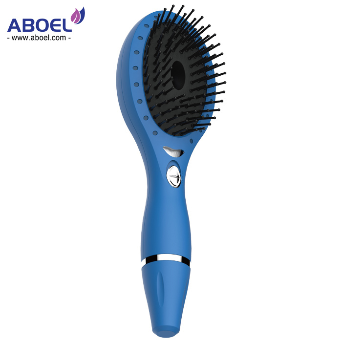 New Black Professional Hair Straightener Comb Brush LCD Display Electric Ionic Hair Brush Heating Comb