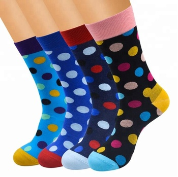 ebcf801b084f Happy Socks Men's Big Dot Cotton Socks/Happy Socks Men's Multi Color Dress  Socks/