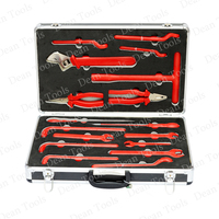 Insulated Hand Tools 17pcs ,1000v electrician special tools kit in aluminum alloy box