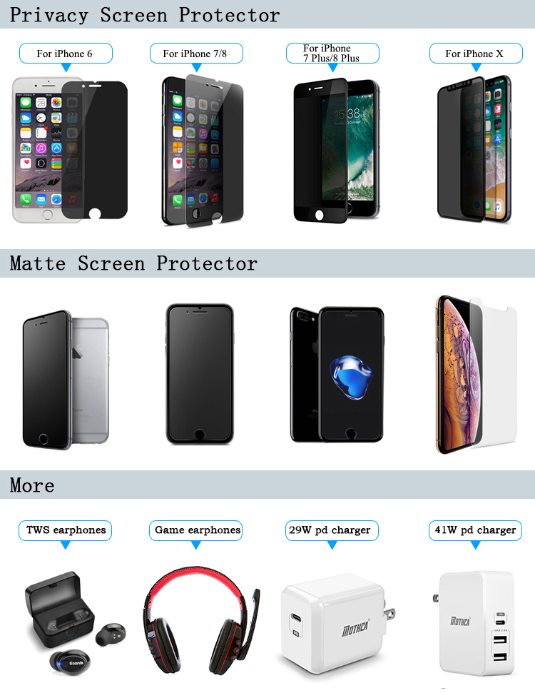 Anti Glare Matte Tempered Glass Universal Screen Protector For iPhone 7 8