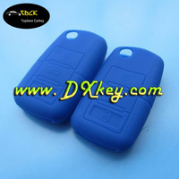 Hot selling Navy blue key cover for vw silicone remote key case