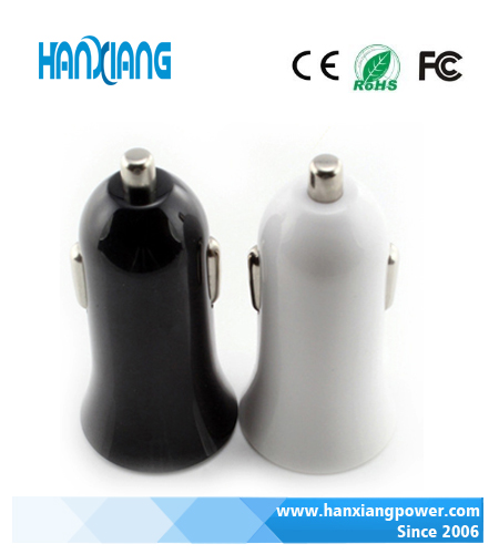 USB car charger for sale,dual port 5V1A/2A, multiple color choice mini design, for mobile phone