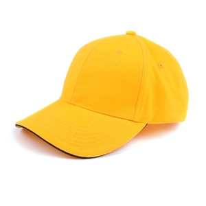 Custom hot selling high quality 6 panels blank yellow sports and baseball cap