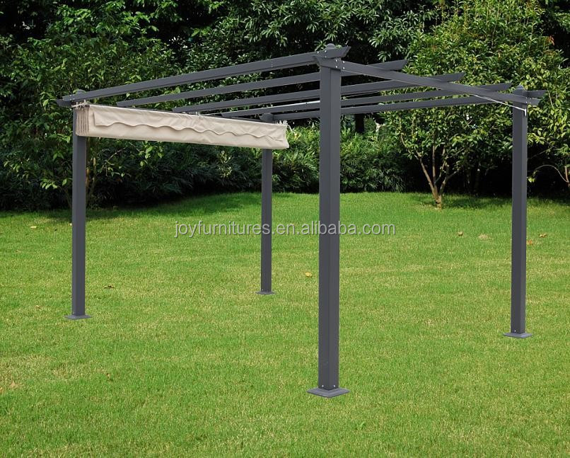 Hot koop klassieke smeedijzeren aluminium tuinhuisje pergola tuinhuisjes product id 60605250869 - Aluminium pergola met schuifdeksel ...