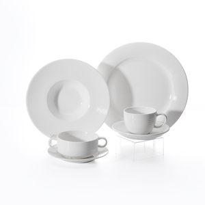 Luxurious Catering Crockery Porcelain Dinnerware, Modern Wedding Buffet Tableware, Luxury Blank Porcelaine Dinnerware