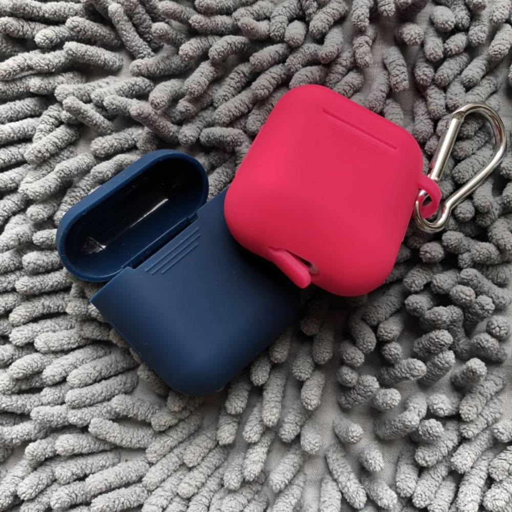 For airpods protection case,silicon protective cover and skin for apple earphone airpods charging case фото