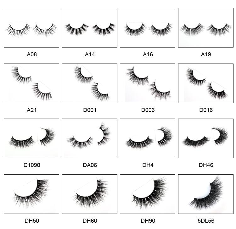 100% cruetly free own brand private label 3d mink strip fur eyelashes