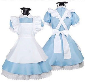 ecoparty Women Adult Alice In Wonderland Cosplay Costume Girl Maid Lolita Fancy Dress