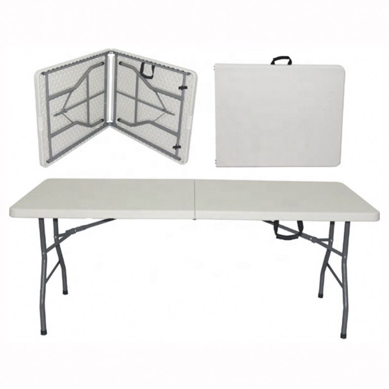 Factory Direct Sale Plastic folding table 8ft