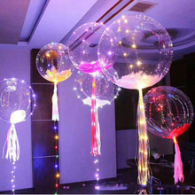 2017 Wedding Air Balloons Round Light Small Helium Balloon With Led String Transparent blink led Balloons for Christmas Day