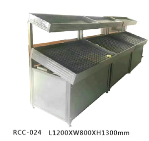 supermarket heavy duty wall shelves combine of metal and wood