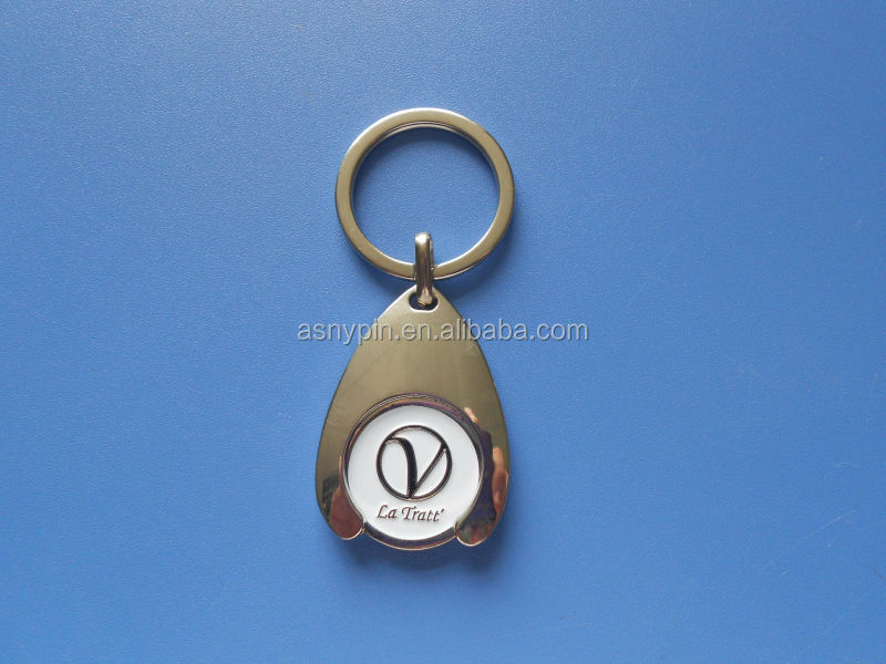UK Metal Trolley coin holder keychain